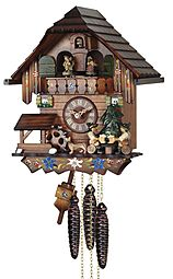 Mechanical cuckoo clock with music & dancing couples