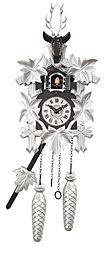 Quartz cuckoo clock with Swarovski crystals