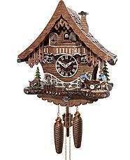 Cuckoo clock with 8-day movement