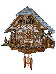 Cuckoo clock with music and dancing couples
