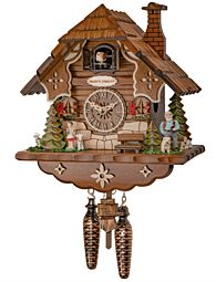Quartz cuckoo clock + Quartz cuckoo clock with music