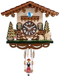 Miniature quartz swinging-doll clock