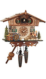 Quartz cuckoo clock with music