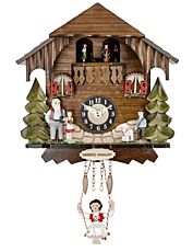 Classic design miniature quartz pendulum clock