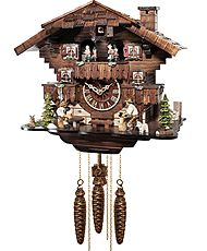 Cuckoo clock with 1-day movement with music