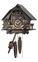 Quartz cuckoo clock, Black Forest style
