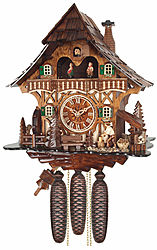 Cuckoo clock with music & dancing couples